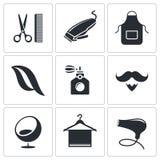 Hair salon icon set. Hair salon icon collection on a white background Stock Photo
