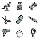 Hair Salon Icons Freehand 2 Color Stock Photo