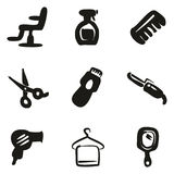 Hair Salon Icons Freehand Fill Royalty Free Stock Photography