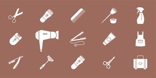 Hair Salon Icons 02 royalty free illustration