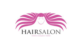 Hair Salon Logo. Minimalist and modern hair salon logo template. Simple work and adjusted to suit your needs Royalty Free Stock Images