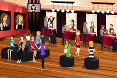 Hair Salon Scene Royalty Free Stock Images