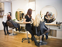 Hair salon situation Royalty Free Stock Images