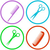 Hair salon tools set Royalty Free Stock Image