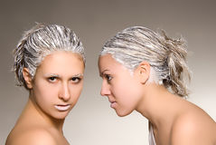 Hair Saloon Advertising Royalty Free Stock Photos