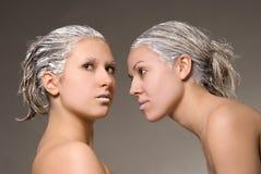 Hair Saloon Advertising Stock Photo
