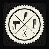 Hair saloon design Royalty Free Stock Images