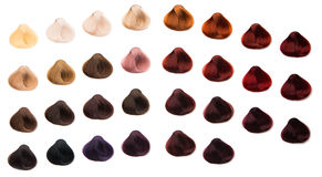 Hair samples. Of different colors Stock Images