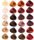 Hair samples. Of different colors Royalty Free Stock Photo