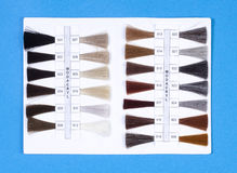 Hair Samples For Production of  Wigs Stock Images