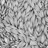 Hair seamless pattern Royalty Free Stock Photography
