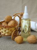 Hair serum with walnut oil Stock Photo
