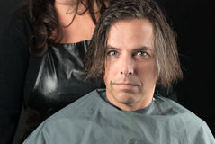Hair Shampooed Ready For Cut Royalty Free Stock Photos