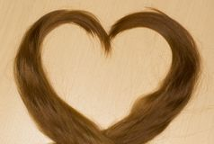 Hair in shape of heart Royalty Free Stock Photo