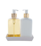 Hair and Skin care bottles Stock Photo