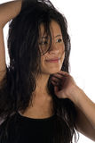 Hair smile in face Royalty Free Stock Image