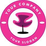Hair Solon Logo Chair Royalty Free Stock Photo