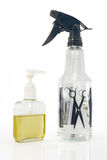 Hair spray and oil. Stock Image