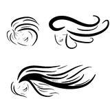 Hair stile icon logo Stock Photo