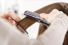 Hair Straighteners Stock Photo