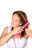 Hair Straightening Stock Photography