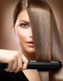 Hair Straightening Irons Stock Photography