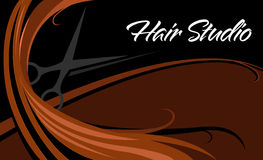 Hair studio. Abstract business card Royalty Free Stock Image
