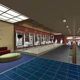Hair Studio. 3 D Render of an Hair Studio royalty free illustration