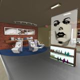 Hair Studio. 3 D Render of an Hair Studio stock illustration
