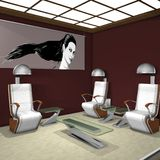 Hair Studio. 3 D Render of an Hair Studio Royalty Free Stock Photography