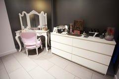 Hair, Nails & Beauty Salon mirror. Hair studio,beauty salon, Hair cuts, styles & colour,Beauty treatments,cosmetic treatments for men and women Stock Photo