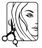 Hair studio. Vector icon for hair studio Royalty Free Stock Images