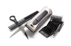 Hair style. Hair Cutting equipment isolated on white royalty free stock images
