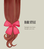 Hair style background. Vector set poster or visit card. Royalty Free Stock Image