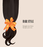 Hair style background. Vector set. Stock Photo