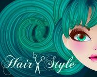 Hair Style Beauty Illustration. Vector, mesh Stock Photo