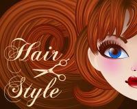 Hair Style Beauty Illustration. Vector, mesh Royalty Free Stock Photo