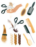 Hair style elements Stock Photos
