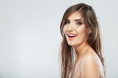 Hair style fashion woman face Royalty Free Stock Images
