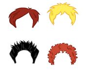 Hair style for man. Illustration of different style of hair for man of different colours Royalty Free Stock Images