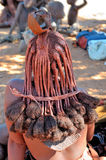 Hair style of a mature Himba woman Stock Photos