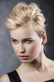 Hair style portrait Stock Photography
