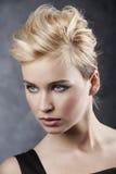 Hair style portrait Stock Photography