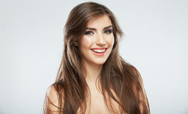 Hair style smiling woman portrait. Royalty Free Stock Photo