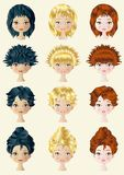 Hair Style Royalty Free Stock Images