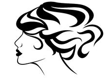 Hair style vector Royalty Free Stock Photos