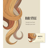 Hair style. Vector set poster and visit card. Stock Photo
