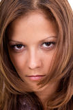 Hair style of young woman stock photography