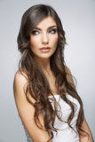 Hair style young woman portrait.Female model Royalty Free Stock Images