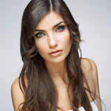 Hair style young woman portrait.Female model Royalty Free Stock Photo